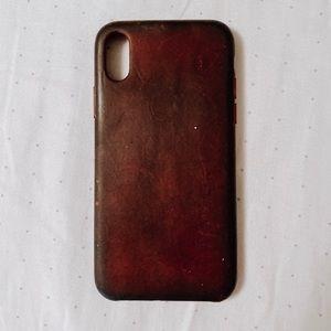 IPhone X leather Apple case
